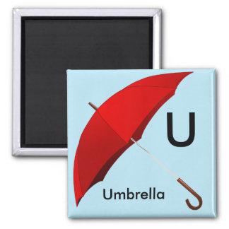 Letter U is for Umbrella Children's Magnet