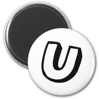 Letter U Magnet