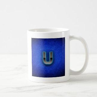 Letter U - neon blue edition Coffee Mug