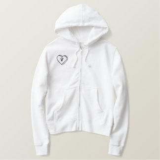 Letter V Heart Monogram Embroidered Shirt