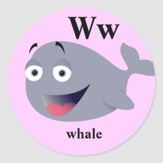 Letter W whale Stickers