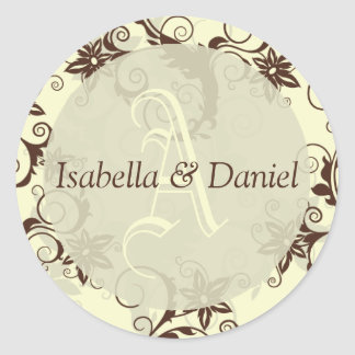 Letter Wedding Monogram Bride Groom Stickers