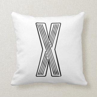 Letter X Inital Pillow