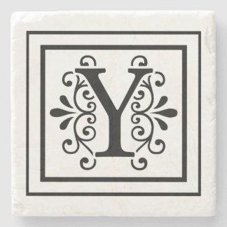 Letter Y Monogram Stone Coasters Stone Coaster