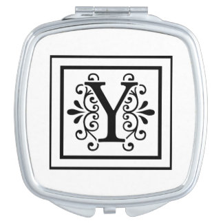 Letter Y Monogram Travel Mirror