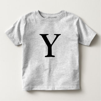 Letter Y monogrammed black initial t shirt