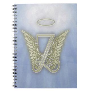Letter Z Angel Monogram Spiral Note Books