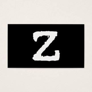 Letter Z Business Card