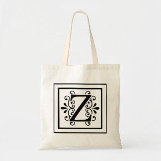 Letter Z Monogram Tote Bag