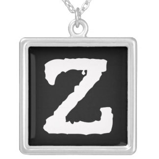 Letter Z Silver Plated Necklace
