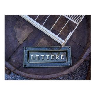 Lettere (Letters) Postcard