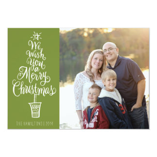 Lettered Tree Christmas Photo Greeting Card
