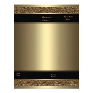 Letterhead Business Brown Metal Bronze Gold