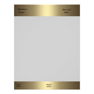 Letterhead Business Company Office Bronze Gold