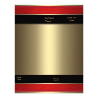 Letterhead Business Red Metal Bronze Gold