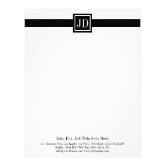 Letterhead Monogram Matching Business Card