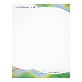 Letterhead paper Gentle Sky & Hills customisable
