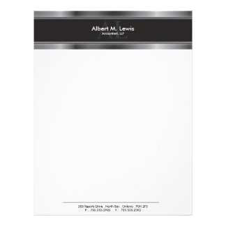 Letterhead Stationary - Professional Silver Metal