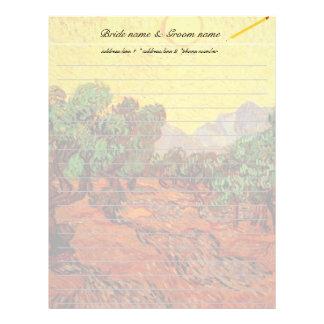 letterhead. Vincent van Gogh Olive Trees Customized Letterhead