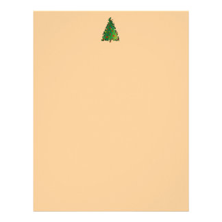 Letterhead with Christmas Tree Decoration