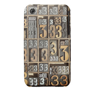 Letterpress 5 iPhone 3 case