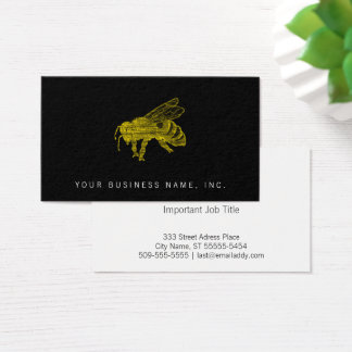 Letterpress Bee Business Card