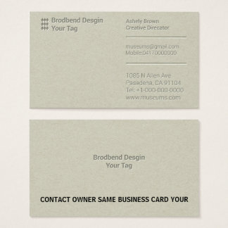 Letterpress Business Man Company Business Card