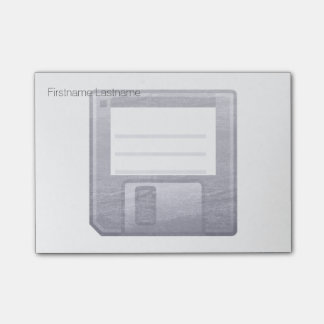 Letterpress Floppy Disk Post-it Notes