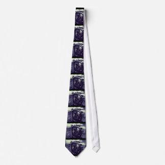 Letterpress grunge with border tie