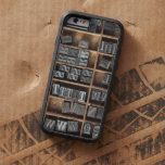 Letterpress lead type in a case tough xtreme iPhone 6 case