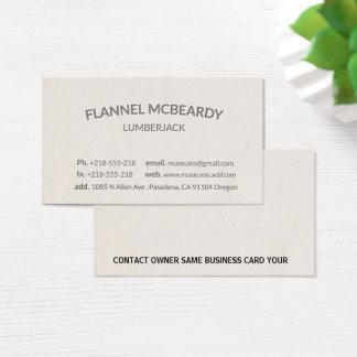 Letterpress Modern Professional Business Card