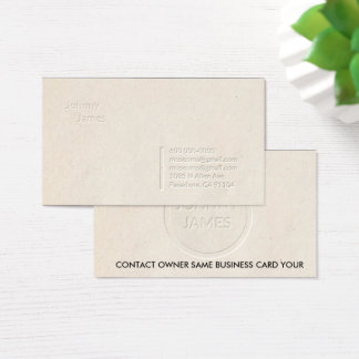 Letterpress Professional Simple Business Card