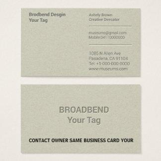 Letterpress Simple Business Man Company Business Card