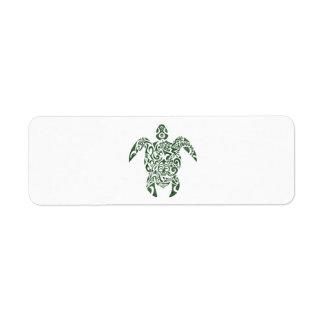 Letterpress Tribal Style Turtle