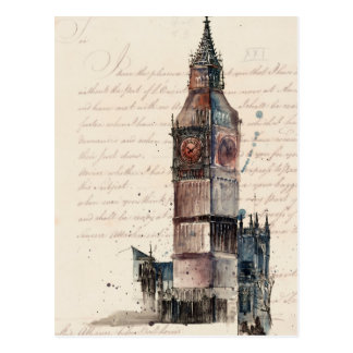 Letters from Big Ben Postcard
