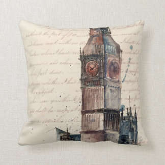 Letters from Big Ben Throw Pillow