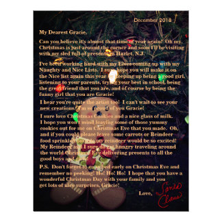 Letters from Santa Gingerbread Man Letterhead