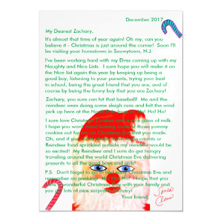 Letters from Santa Personalized Letter Magnetic Card