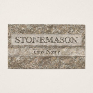 Letters in carved stone business card