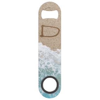 LETTERS IN THE SAND D SPEED BOTTLE OPENER
