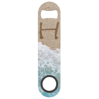 LETTERS IN THE SAND H SPEED BOTTLE OPENER