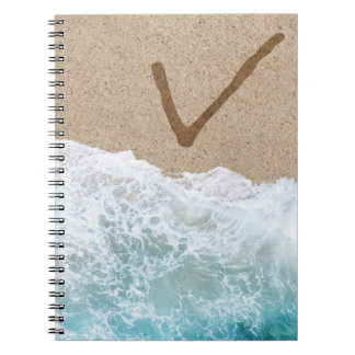 LETTERS IN THE SAND V NOTE BOOK