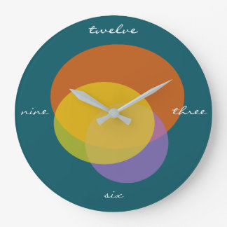 Letters Instead Numbers Happy Day Wall Clock