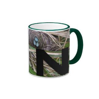 Letters - N - Nest Ringer Coffee Mug