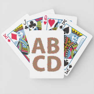 letters set bicycle playing cards