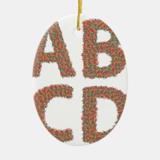 letters set ceramic ornament