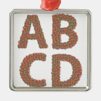 letters set metal ornament