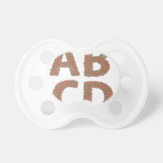 letters set pacifier