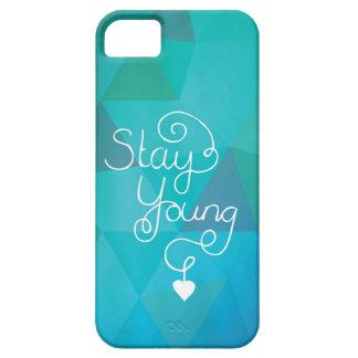 Lettrage pour toujours jeune de main de typographi coques iPhone 5 Case-Mate