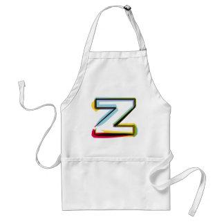 Lettre abstraite et colorée Z